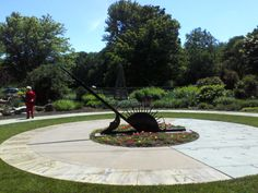 Sun Dial at Discovery Garden in Hollidaysburg PA