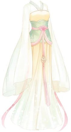 Drawing Anime Outfits Formal Dresses 67 Ideas For 2019 Dress Drawing, Drawing Clothes, Fashion Design Drawings, Fashion Sketches, Fashion Sketchbook, Anime Dress, Anime Kimono, Dress Sketches, Fantasy Dress