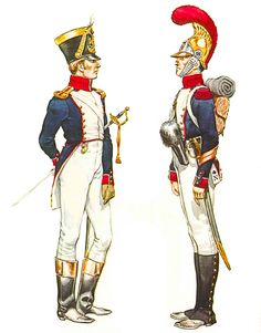 Lieutenant, Fusilier company, infantry, 1812 and second standard (eagle) bearer, infantry, 1812.