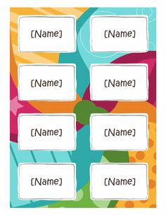 1000 images about templates on pinterest lesson planner for Name badges templates microsoft word