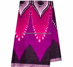 Wholesale Best Quality Purple/pink Plume African fabric/Java African Fabric/ African print/ Tissue Africaine/ 6 yards WP860 by TessWorldDesigns on Etsy