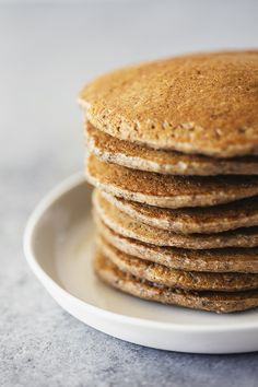 Healthy Vegan Recipe for Banana Oatmeal Pancakes and Chai Nut Butter