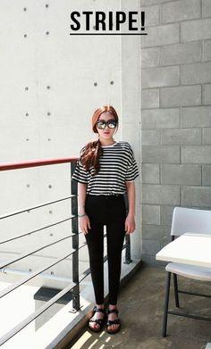 fashion #white -  style -  #women,  #stripes