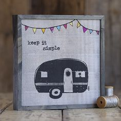 Camper Bungalow Art From Natural Life #naturallife #pinittowinit #pinhappy