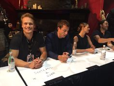 """Do ye not know that, Sassenach?"" — The Outlander cast signing autographs at SDCC..."