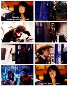 The Doctor and his box.