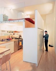 Tiny space, smart use. Don't worry about staying in small apartment. #minimalist #design