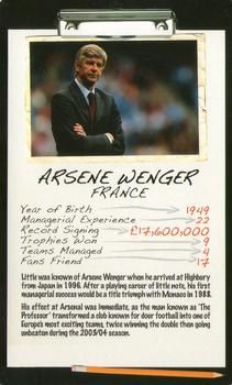 2006 Top Trumps Limited Editions Football Managers #NNO Arsene Wenger Front