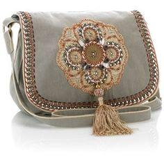 Monsoon | daybags | Sahara Crochet Embellished Motif Satchel