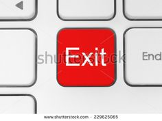 Keyboard exit button close-up