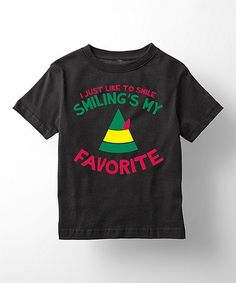 This Black 'I Just Like To Smile' Tee - Toddler & Kids is perfect! #zulilyfinds