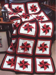 Crochet - Afghans - Assorted - Pinwheel Afghan - #FC00035