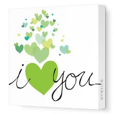 Avalisa Imaginations Hearts Stretched Canvas Art Color: Green, Size: x Art Wall Kids, Nursery Wall Art, Canvas Wall Art, Canvas Prints, Nursery Decor, Heart Canvas, Heart Wall Art, Homemade Valentine Cards, Valentines