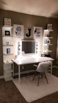 Lillya& Big Girl Room pubertal has a alternative view of a bedroom than an adult higher than a area to sleep, its where a teenager escapes from the world of demands and rules. The post Lillya& Big Girl Room appeared first on Home Decoration Ideas. Bedroom Decor For Teen Girls, Room Ideas Bedroom, Teen Room Decor, Teenage Girl Bedrooms, Bedroom Small, Diy Bedroom, Bedroom Ideas For Small Rooms, Bedroom Inspo, Office In Bedroom Ideas
