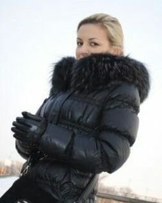 Down Puffer Coat, Down Parka, Down Coat, Puffer Coats, Fox Fur Jacket, Puffy Jacket, Winter Suit, Casual Winter, Coats For Women