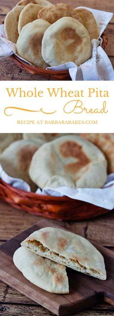 Whole Wheat Pita Bread recipe from Barbara Bakes