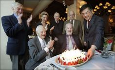 This is an old one, but I think it'c cute. Washington Governors celebrating Gov Al Rossellini's 99th birthday.
