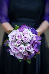 Lovely wedding flower #purple #wedding #flower