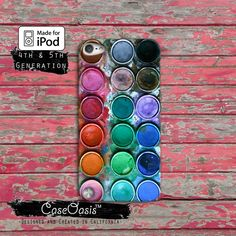 Paint Palette Watercolor Set Rainbow Cute Tumblr Case iPod Touch 4th Generation or iPod Touch 5th Generation or iPod Touch 6th Gen Rubber by CaseOasis on Etsy https://www.etsy.com/listing/178178319/paint-palette-watercolor-set-rainbow