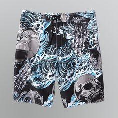 Joe Boxer Men's Skull Board Shorts