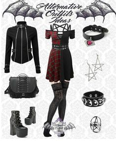 Punk Outfits, Gothic Outfits, Dope Outfits, Cute Casual Outfits, Grunge Outfits, Grunge Goth, Nu Goth, Alternative Outfits, Alternative Fashion