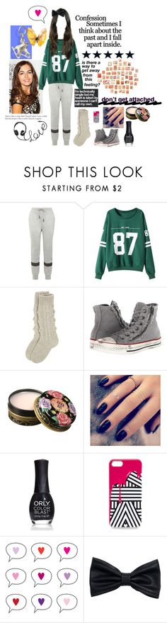 """""""Day 18"""" by stockmon ❤ liked on Polyvore featuring T By Alexander Wang, Chicnova Fashion, Converse, Anna Sui, Lottie, ORLY, Jordan Carlyle and H&M"""