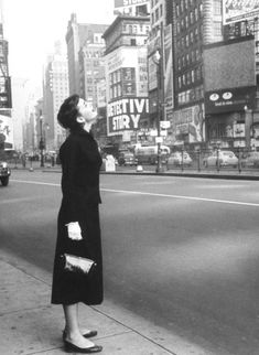 Audrey Hepburn in New York for location shooting for Sabrina, 1954