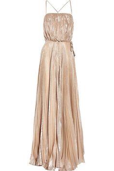 Halston Heritage Champagne Starburst Pleat Dress for bridemaid maybe?