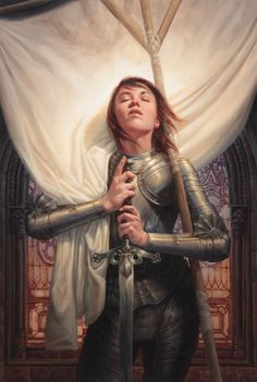 Joan of Arc, Michael C. Hayes on ArtStation at https://www.artstation.com/artwork/joan-of-arc-823a573b-82b0-4ad8-bbb6-85b511191c9d