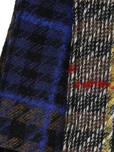 faith connexion - uomo - sciarpe & stole - sciarpa in misto lana tartan