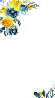 Maturita all kittens - Kittens Flower Backgrounds, Wallpaper Backgrounds, Iphone Wallpaper, Blue Floral Wallpaper, Flower Wallpaper, Motif Floral, Floral Border, Watercolor Flowers, Watercolor Art