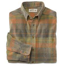 Orvis Woven Plaid Fine Cord Shirt