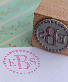 Dot Monogram Stamp.