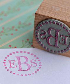 Dot Monogram Stamp