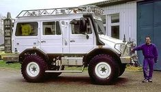 Would you wear a purple jumpsuit every day for one year to win this Unimog? #overlandkitted