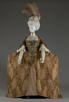 Rate the Dress: a Robe a la Francaise in rococo brown, ca 1755 - The Dreamstress 18th Century Dress, 18th Century Costume, 18th Century Clothing, 18th Century Fashion, Vintage Dresses, Vintage Outfits, Vintage Fashion, Historical Costume, Historical Clothing