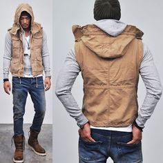 Detachable Wire Hood Military Hunting-Vest 40