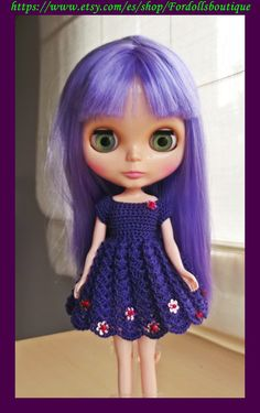 Dress for Blythe doll - Vestido para muñecas Blythe de Fordollsboutique en Etsy