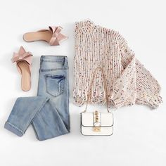 To find out about the Drop Shoulder Crop Frayed Sweater at SHEIN, part of our latest Sweaters ready to shop online today! Girls Fashion Clothes, Teen Fashion Outfits, Girly Outfits, Cute Casual Outfits, Simple Outfits, Trendy Fashion, Korean Fashion, Fall Outfits, Girl Fashion