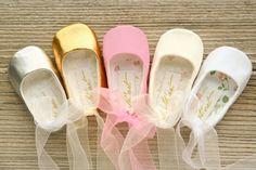 Ballet zapatos de bebé zapatos de bebé de bailarina blanco