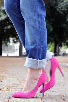 Meltin'pot jeans by Easyshop e dettagli fucsia | Irene's Closet - Fashion blogger outfit e streetstyleIrene's Closet – Fashion blogger outfit e streetstyle