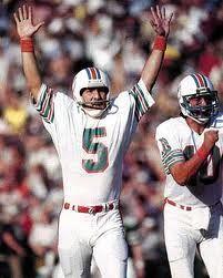 Uwe von Schamann with the Miami Dolphins