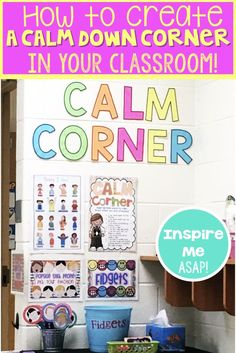 Creating a Calm Down Corner is part of Calm classroom - There's a little corner in my room that is frequently visited by fidgets, tattletalers, and more How do you deal with these issues Keep reading! Calm Classroom, Space Classroom, Classroom Economy, Classroom Behavior Management, Behavior Plans, Classroom Layout, Classroom Setting, Kindergarten Classroom, Future Classroom