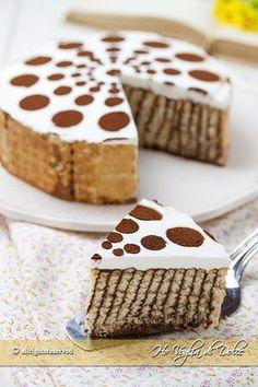 Torta di biscotti e budino, una ricetta veloce, facilissima, senza forno.   ♥