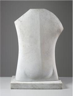 "Henry Moore, ""Torso"", 1966, white marble"