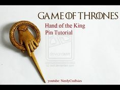 Game of Thrones Hand of the King Pin Polymer Clay Tutorial / Arcilla Polimérica - YouTube