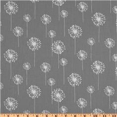 Premier Prints Small Dandelion Twill Storm    Thoughts?  With white painted chairs and a dark stained table?