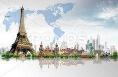 Vector Free, Tower, Clip Art, Concept, Paris, Illustration, Travel, Rook, Montmartre Paris