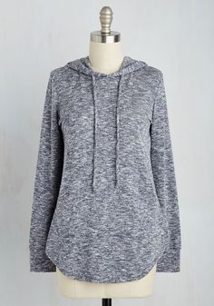 Snuggled in Softness Top in Slate Blue. Wrap yourself in casual charm with this heathered blue top! #grey #modcloth