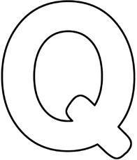 Letter Q Crafts, Alphabet Letter Templates, Preschool Letters, Alphabet Book, Alphabet Worksheets, Preschool Crafts, Alphabet Coloring, Coloring Books, Coloring Pages